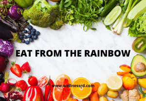 Eat from the rainbow-colorful vegetables